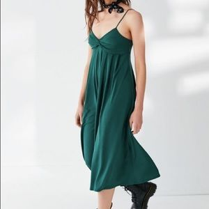 Urban Outfitters Twist Front Pleated Jumpsuit